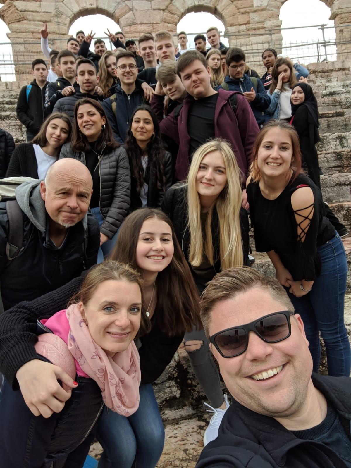 Abschlussfahrt der 10a/c 19/20 hier in Verona