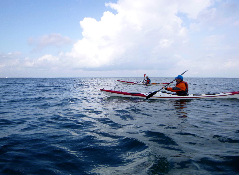 blue water paddling