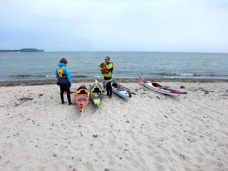 weißer Strand und vor uns die Ostsee...