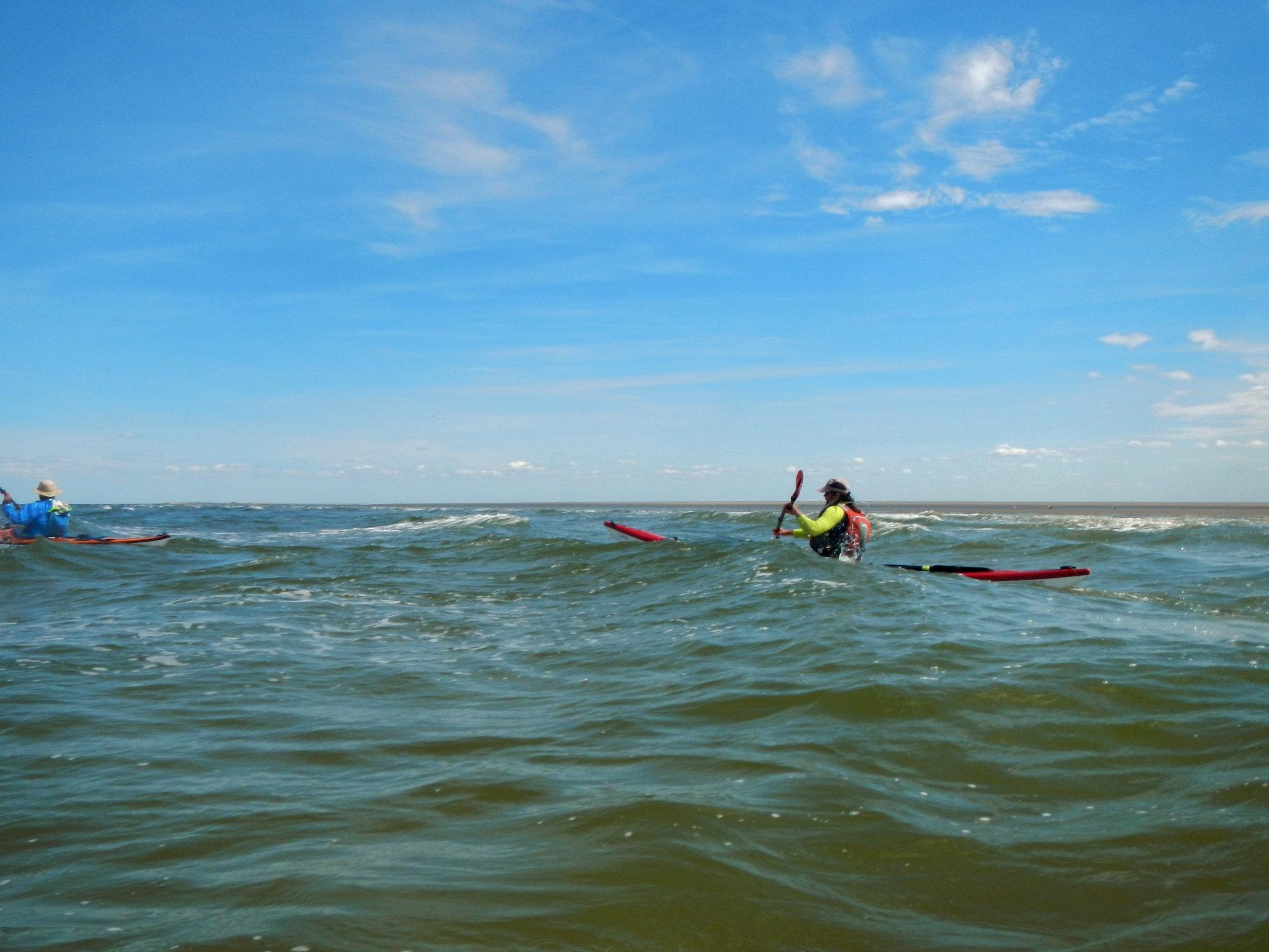 Nordseepaddeln mit Wind und Welle