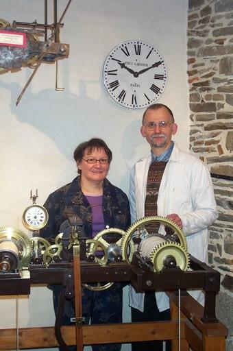 Alain et Hélène Le Floch-musée de l'horlogerie ancienne Fougères