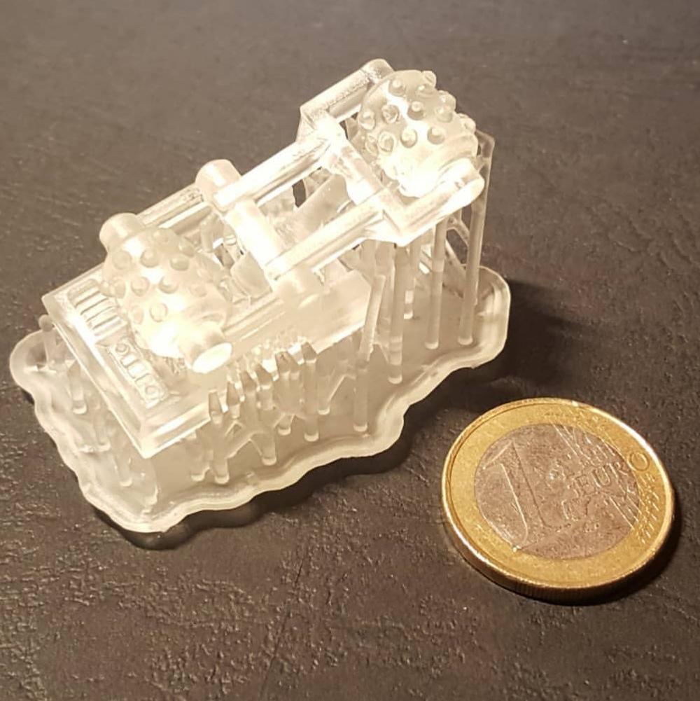 Beispiel: Bauteil für Miniaturmodell (SLA 3D Druck)