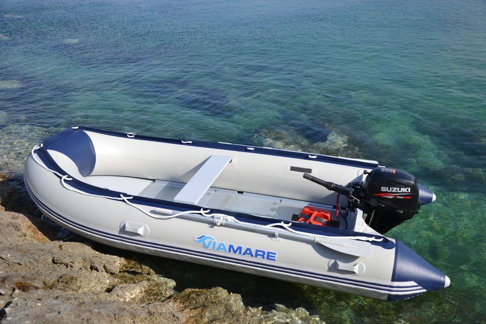 Bootsport Ruder- & Paddelboote VIAMARE Sportboot 270 S Slat Schlauchboot Tender