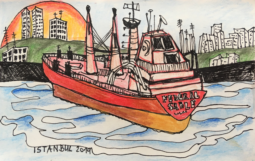 Fahrt übern Bosporus