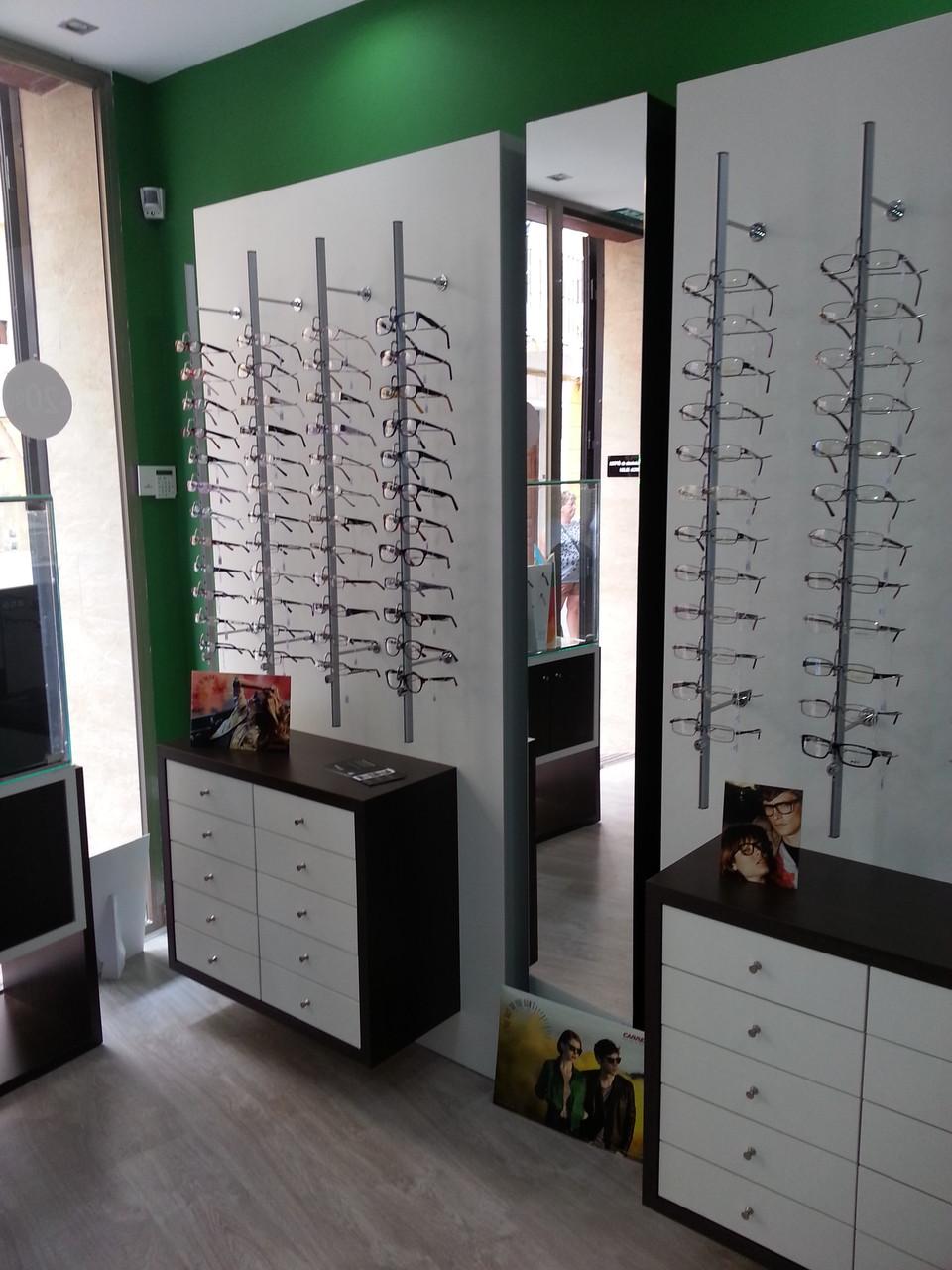 Expositores de gafas con módulo bajo para almacenaje