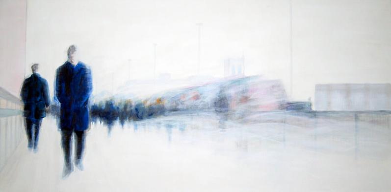 Rush Hour l, 100 x 50 cm, Acryl/ Mischtechnik
