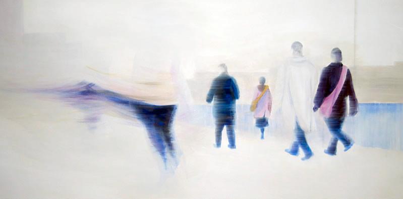 Rush Hour ll, 100 x 50 cm, Acryl/ Mischtechnik