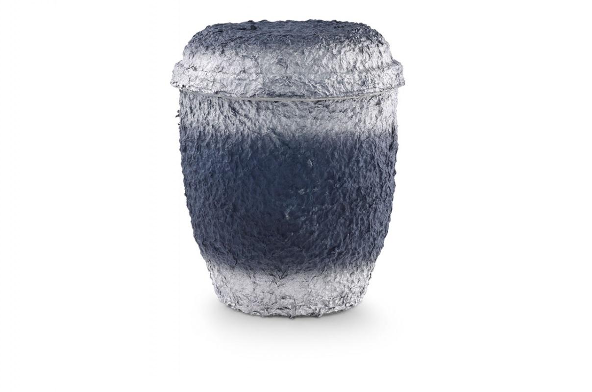 Blau-Silber getönte Seeurne aus Zellulose ohne Motiv