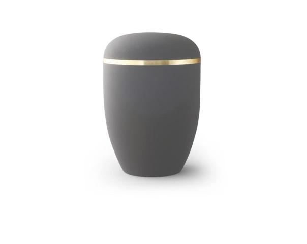 Graphitfarbige Urne mit Goldrand