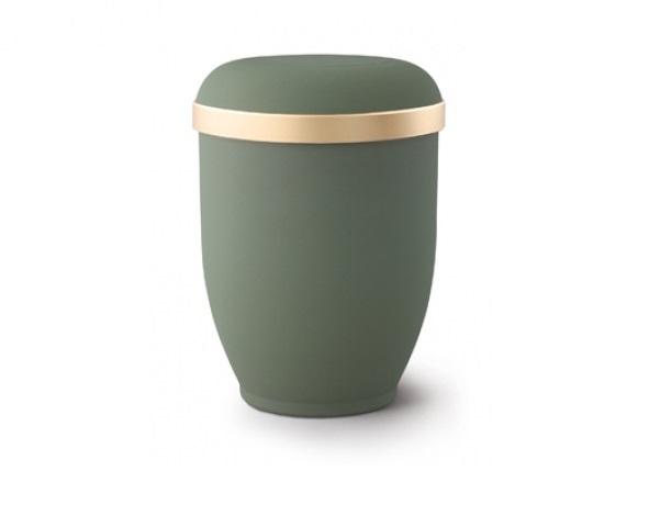 Olivfarbige Urne im Samtton