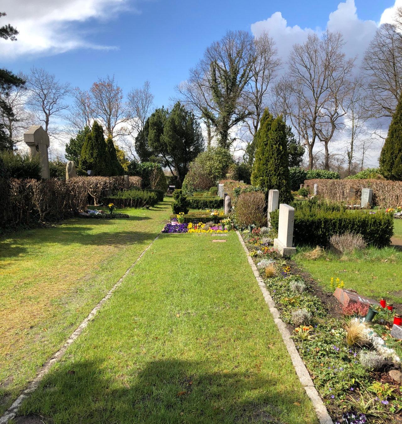 Urnengrabfeld Friedhof Billwerder