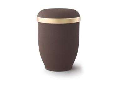 Caféfarbige Urne im Samtton