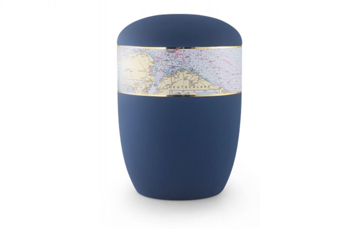 Marine Blaue Seeurne mit Seekarte