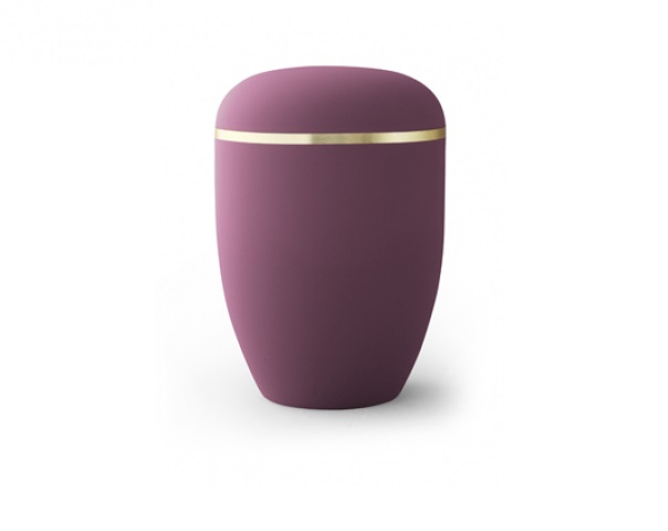 Bordeauxfarbige Urne mit Goldrand