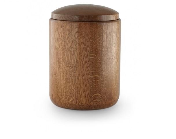 Urne aus Eichenholz, Rustikal