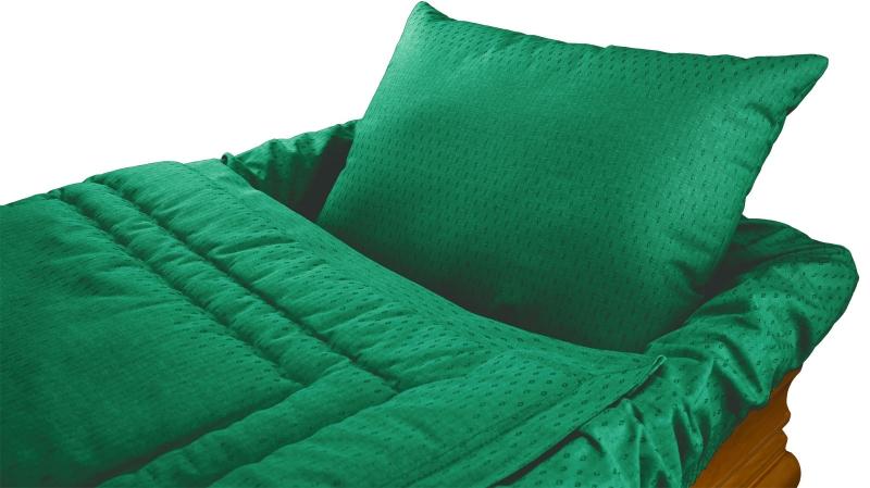Grüne Sarggarnitur