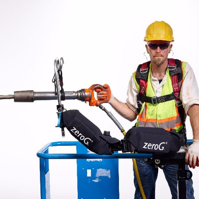 Bras exosquelette ZeroG applications BTP