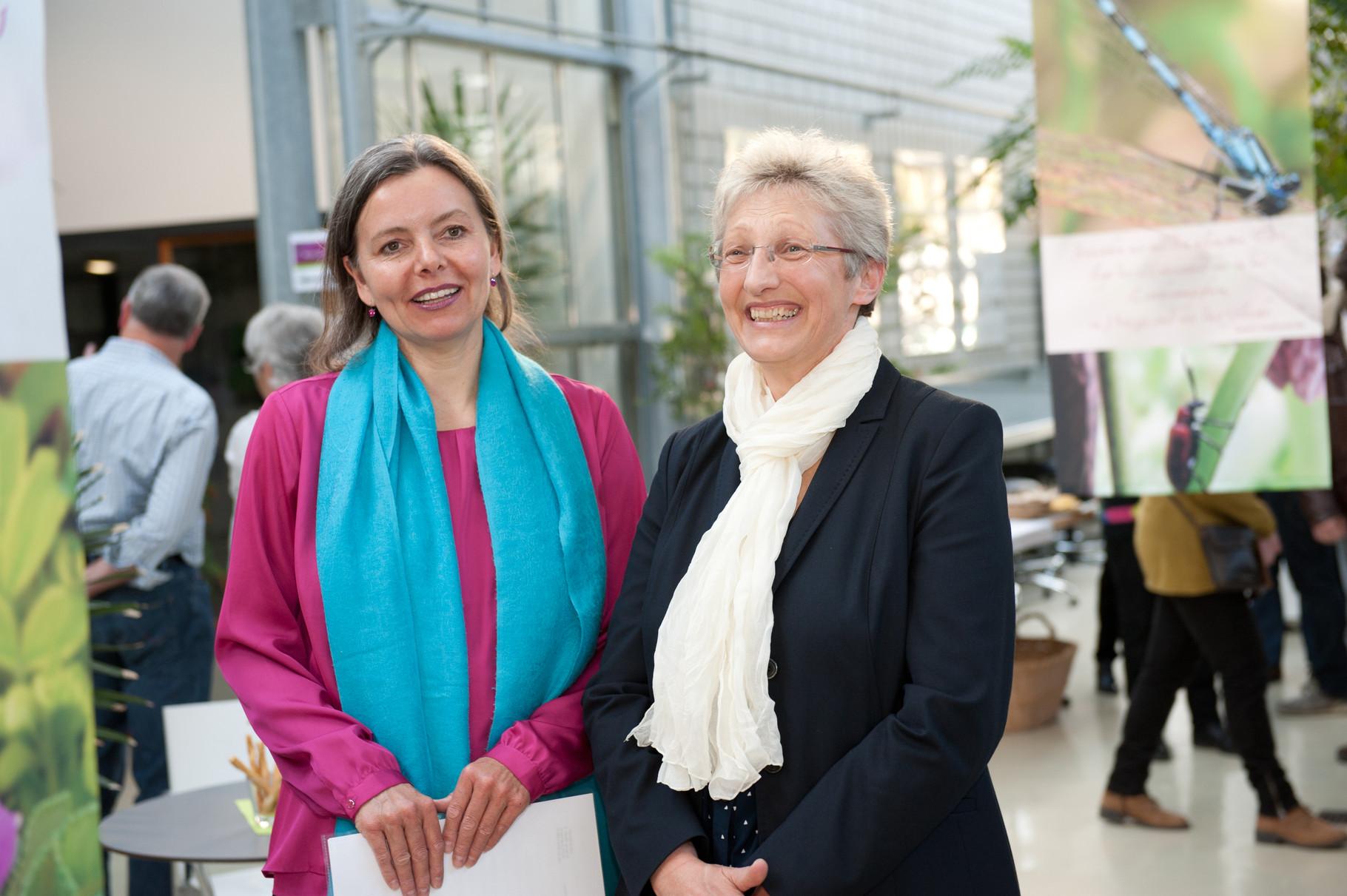 Eröffnung der Vernissage mit Frau Gschneidner,Kustodin des bot.Garten Ulm