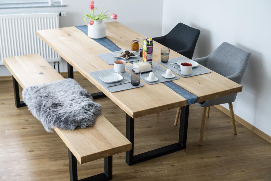 Tisch Epoxidharz Blau