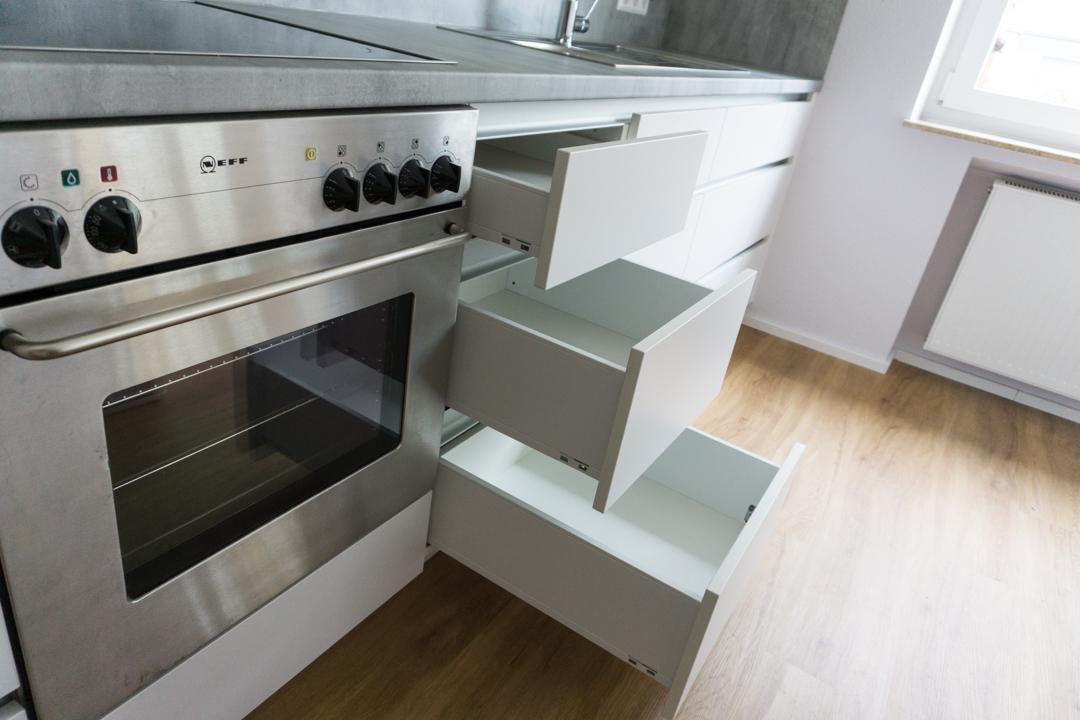 Moderne Küche weiß Detail