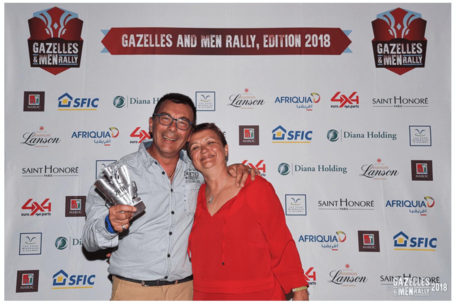 Gazelles and Men Rally 2018 - Remise des trophées à Marrakech.