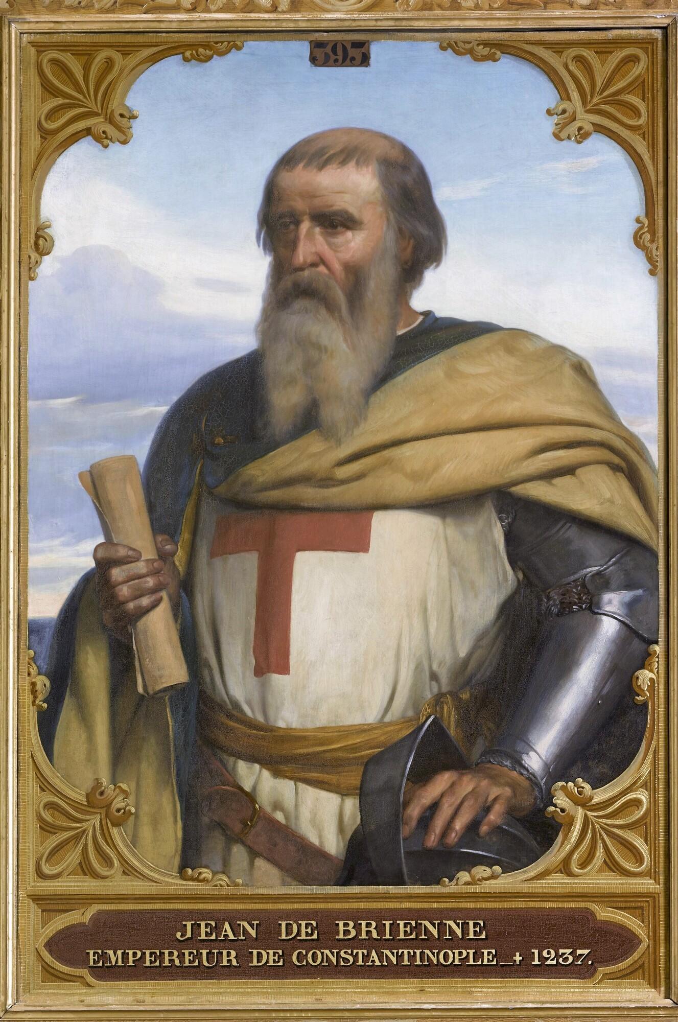 Jean de Brienne, roi de Jérusalem, empereur de Constantinople (1148-1237). Peintre : François-Édouard Picot.