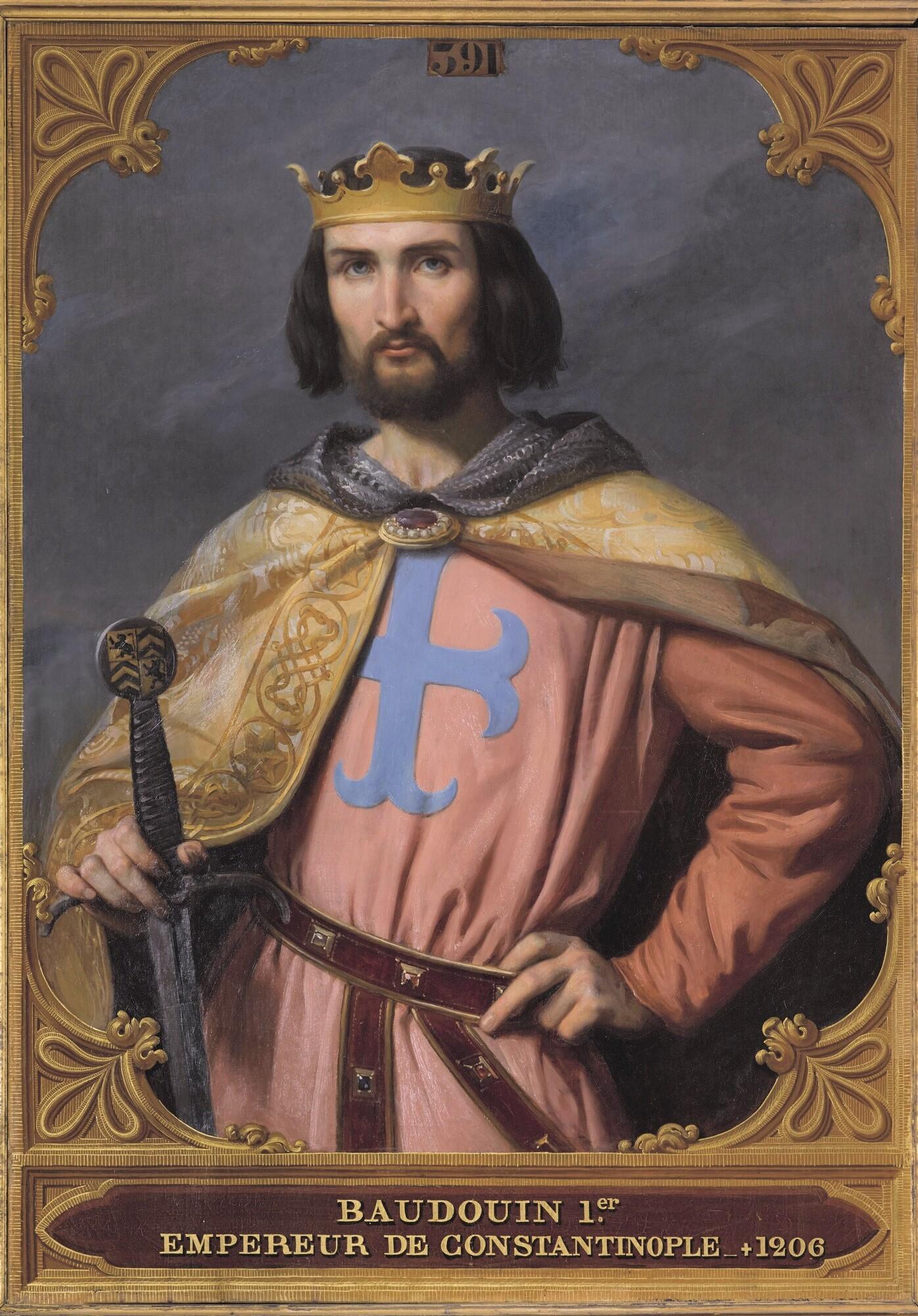 Baudouin Ier, comte de Flandre, empereur de Constantinople. Peintre : François-Édouard Picot.