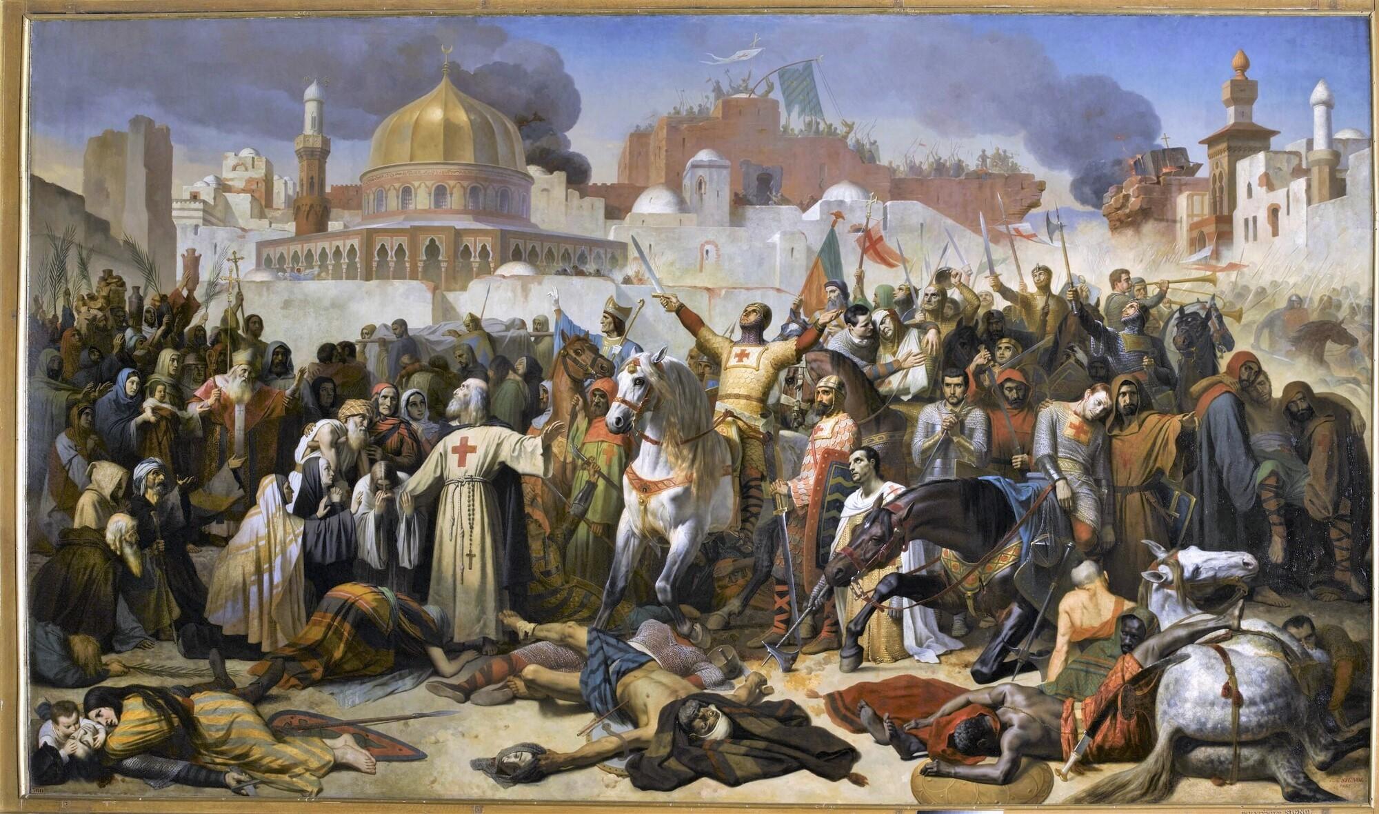 Prise de Jérusalem, 15 juillet 1099. Peintre : Émile Signol.