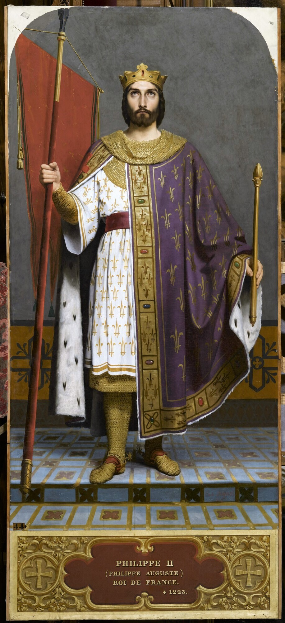 Philippe II Auguste, roi de France (1165-1223). Peintre : Émile Signol.