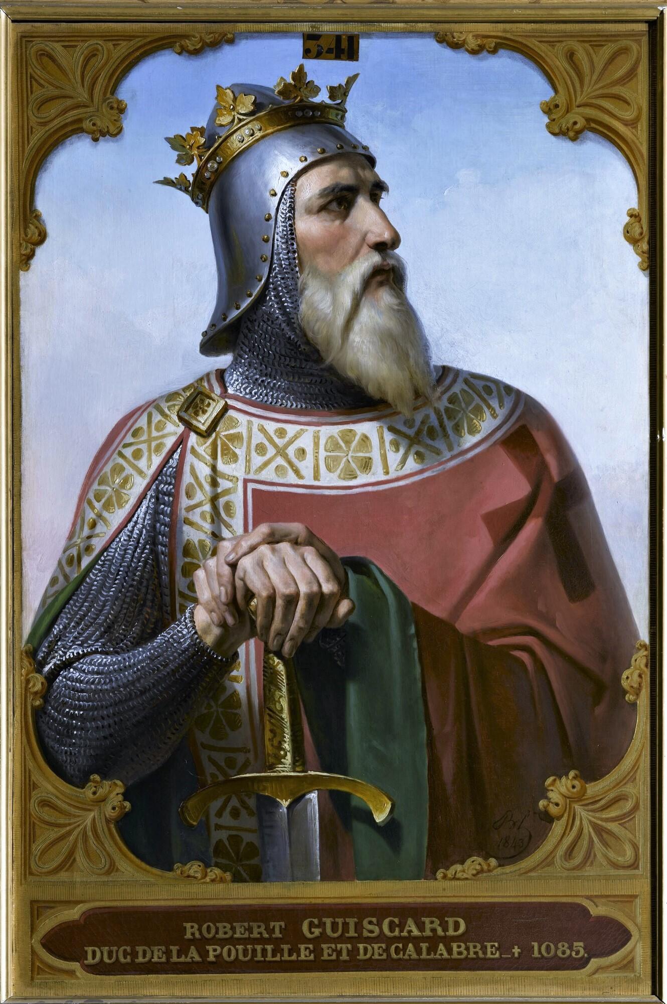 Robert Guiscard, duc de Pouille et de Calabre (V.1015-1085). Peintre : Merry-Joseph Blondel.