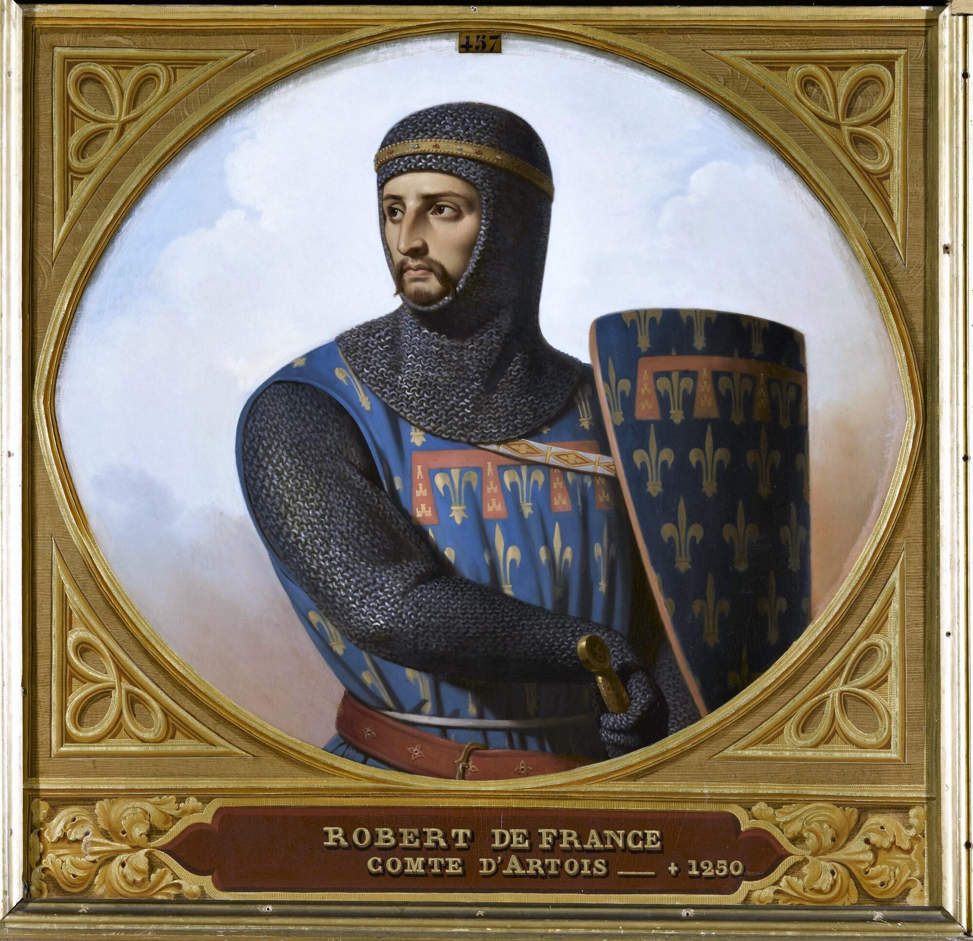 Robert de France, comte d'Artois. Peintre : Henri Decaisne.