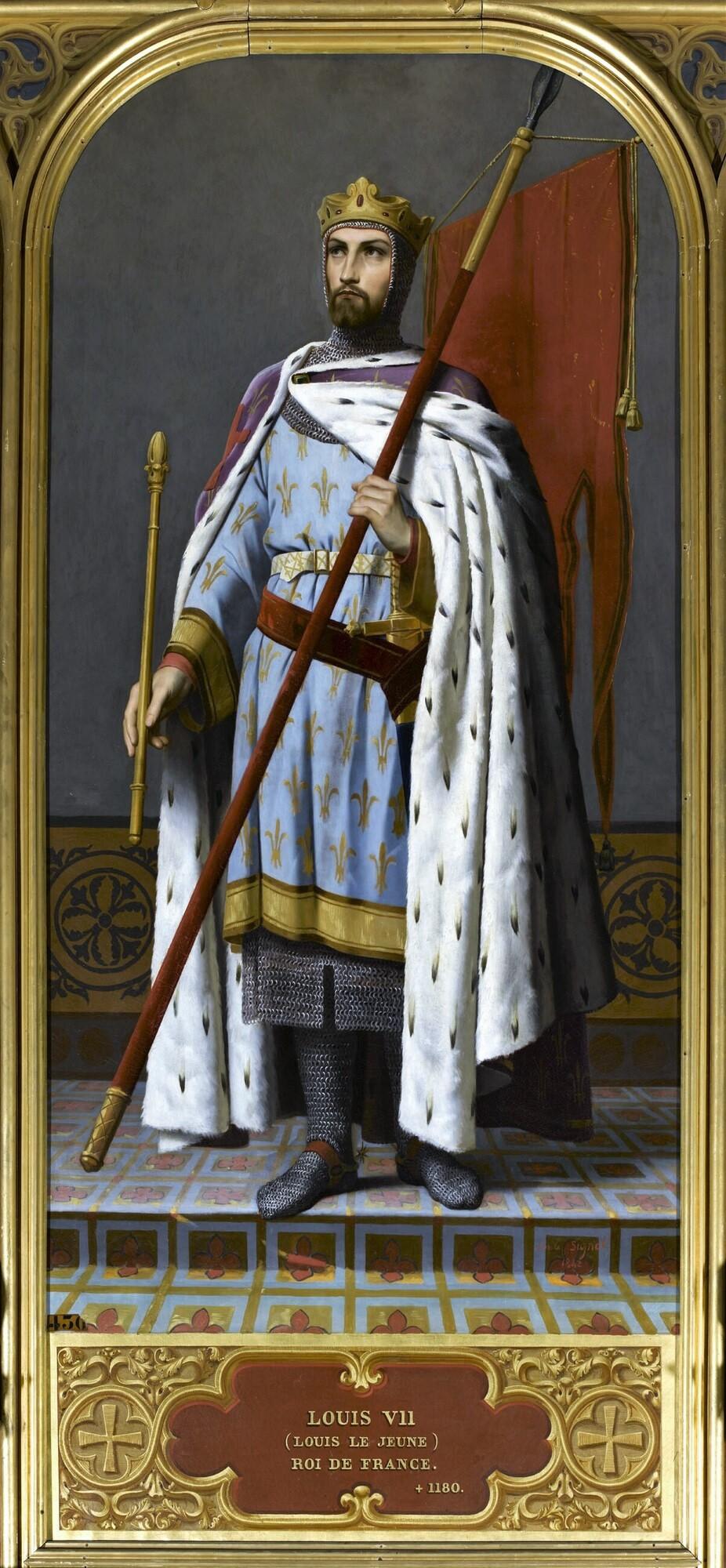 Louis VII, roi de France (1120-1180). Peintre : Émile Signol.
