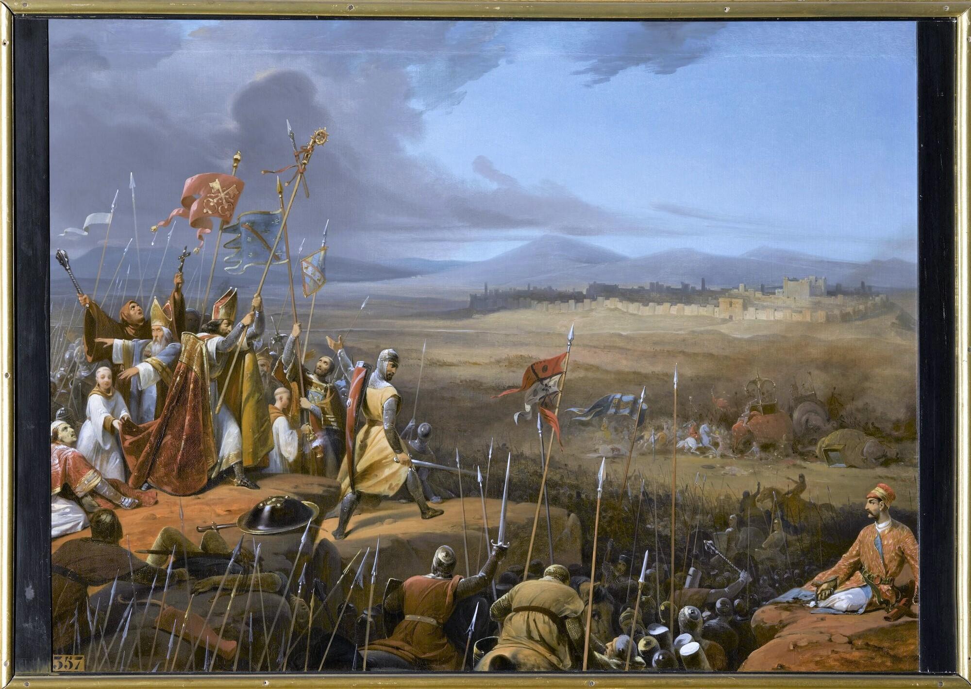 Bataille sous les murs d'Antioche, 1098. Peintre : Frédéric-Henri Schopin.