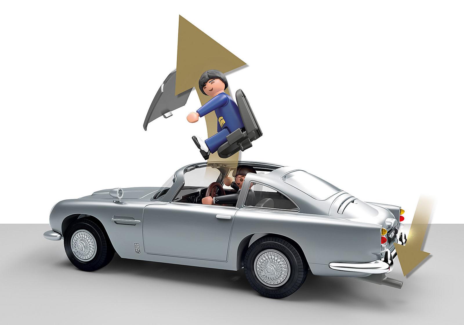 ASTON MARTIN DB5 JAMES BOND PLAYMOBIL – ÉDITION GOLDFINGER -Siège passager gauche éjectable.