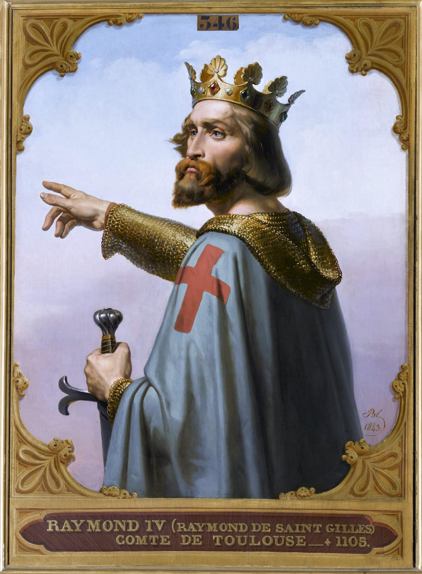 Raymond IV de Saint-Gilles, comte de Toulouse (?-1105). Peintre : Merry-Joseph Blondel.