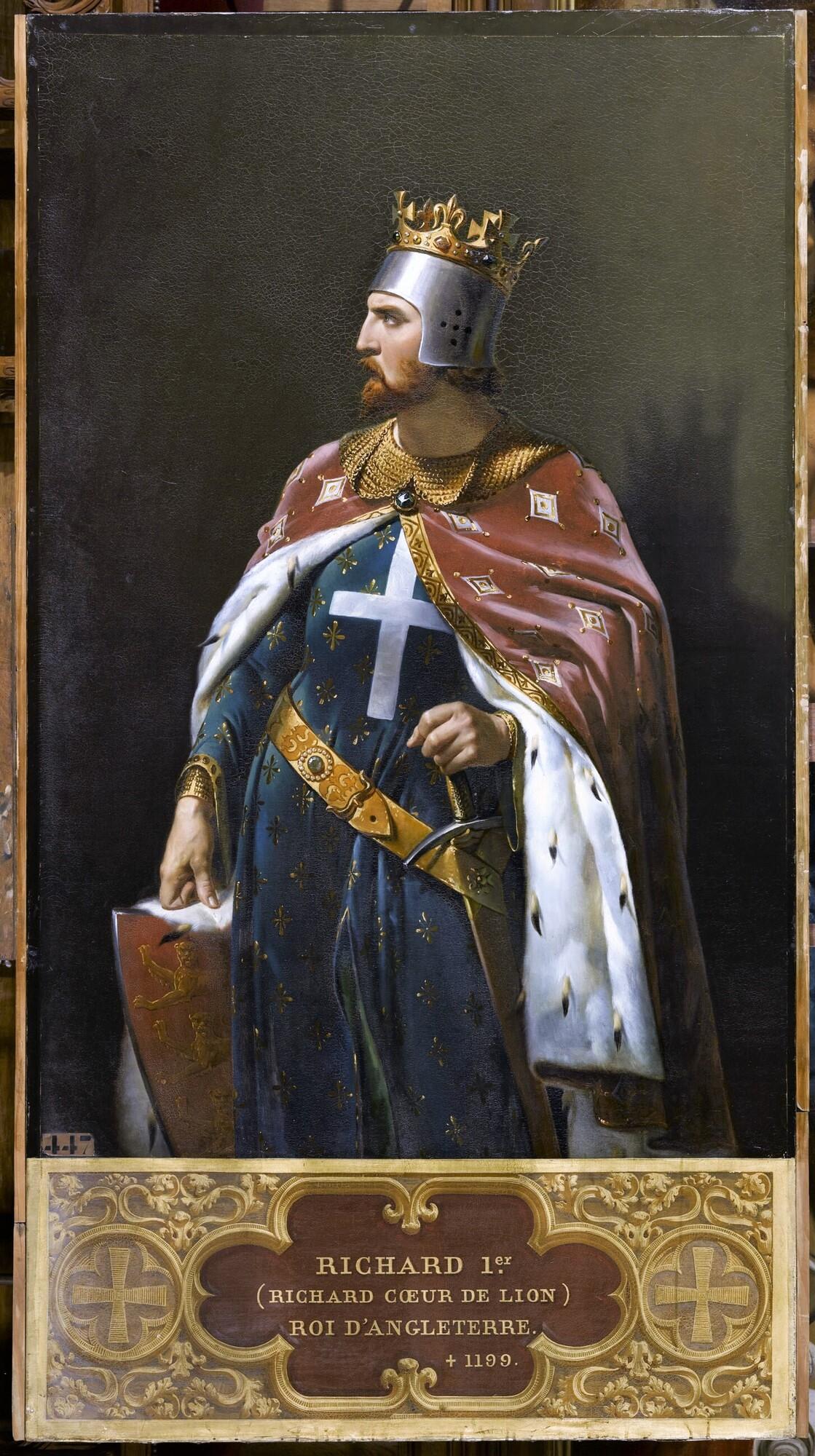 Richard Ier, dit Cœur-de-Lion, roi d'Angleterre (1157-1199). Peintre : Merry-Joseph Blondel.