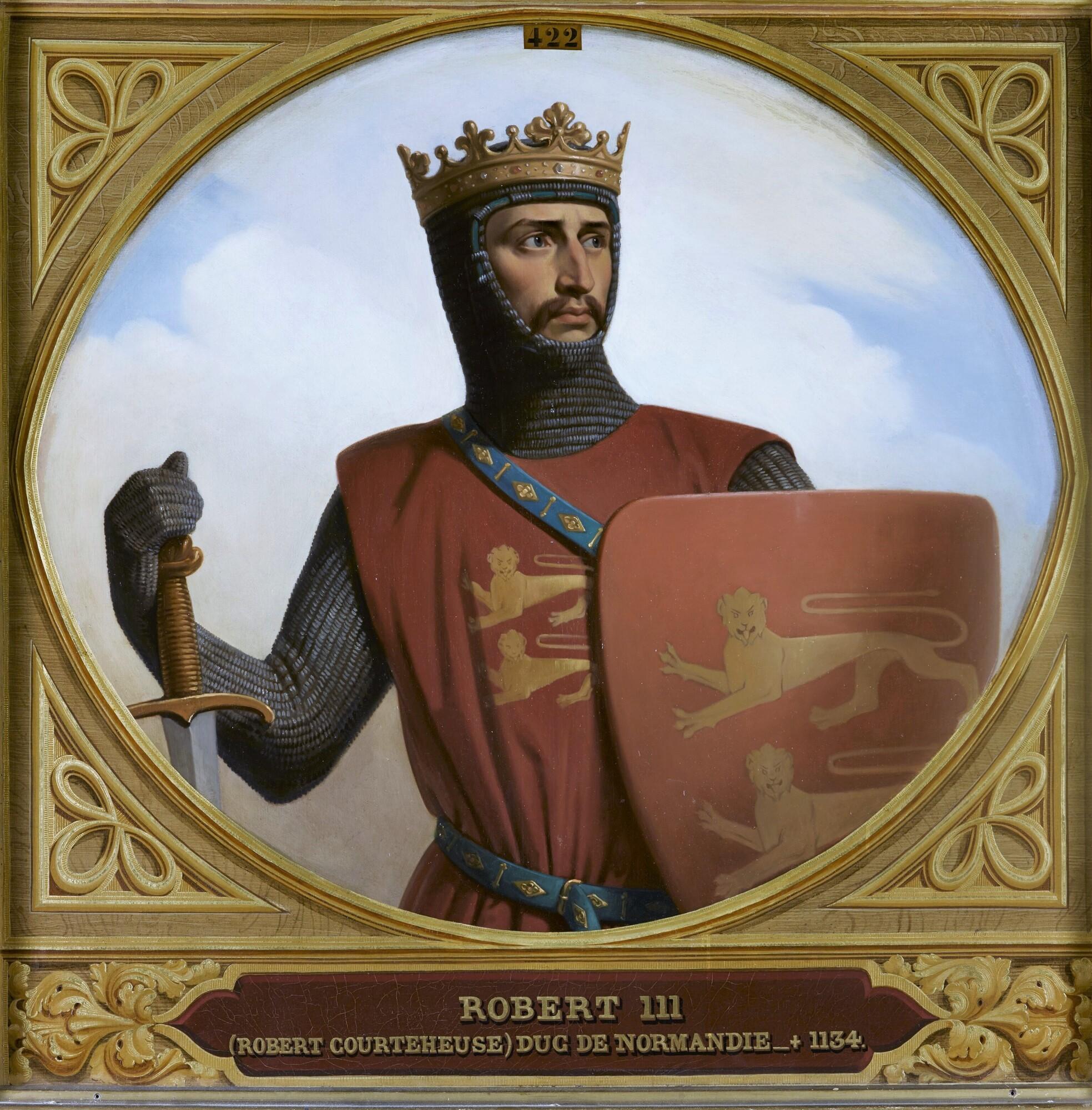 Robert III, dit Courteheuse, duc de Normandie (1058-1134). Peintre : Henri Decaisne.