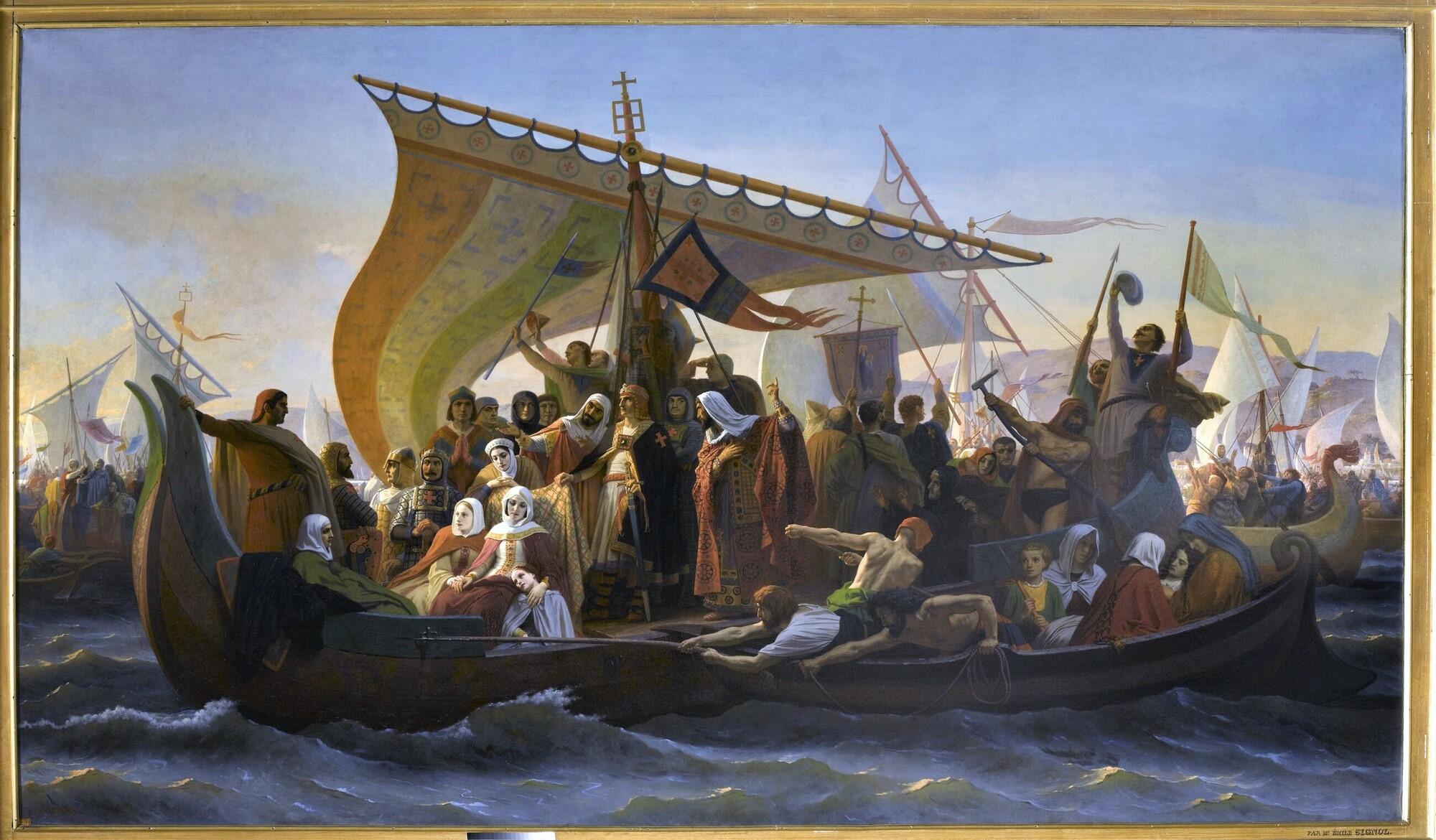 Passage du Bosphore, 1097. Peintre : Émile Signol.