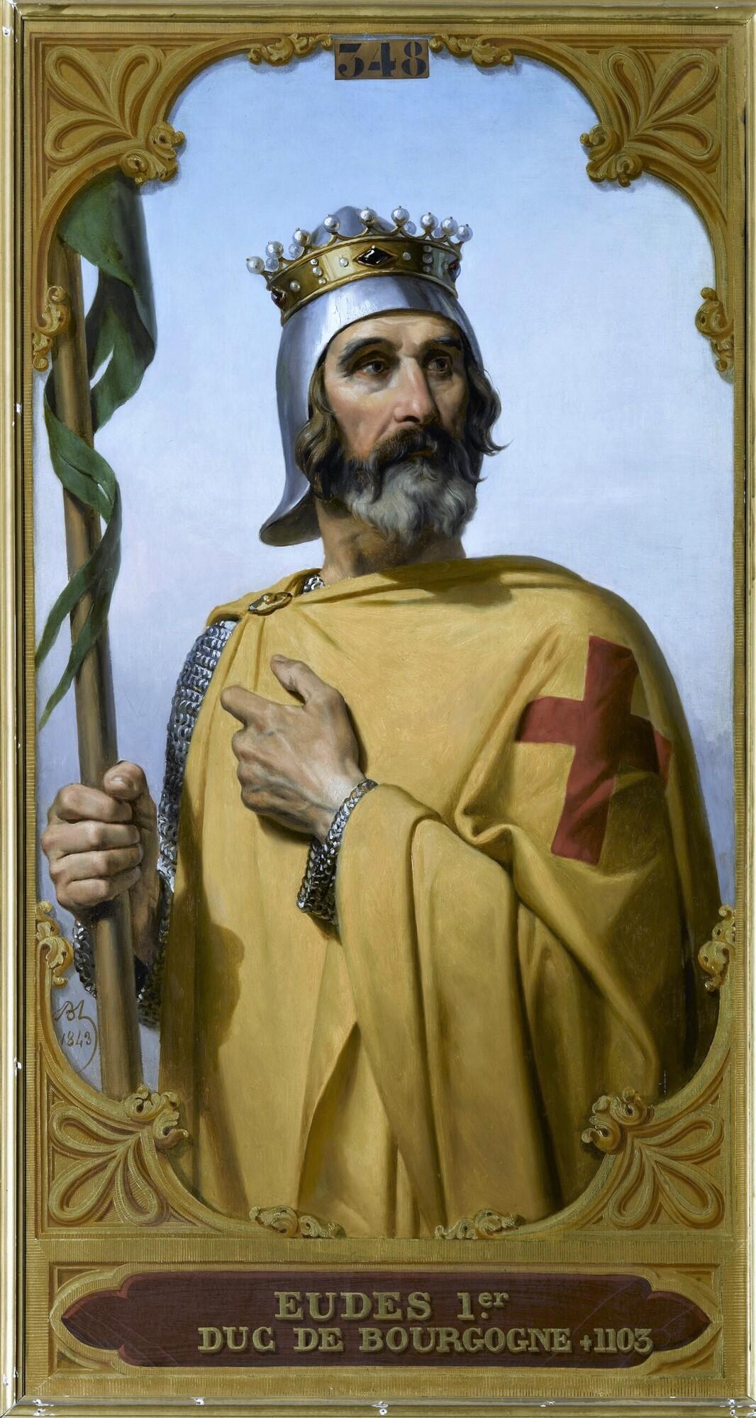 Eudes Ier, dit Borel, duc de Bourgogne (?-1102). Peintre : Merry-Joseph Blondel.