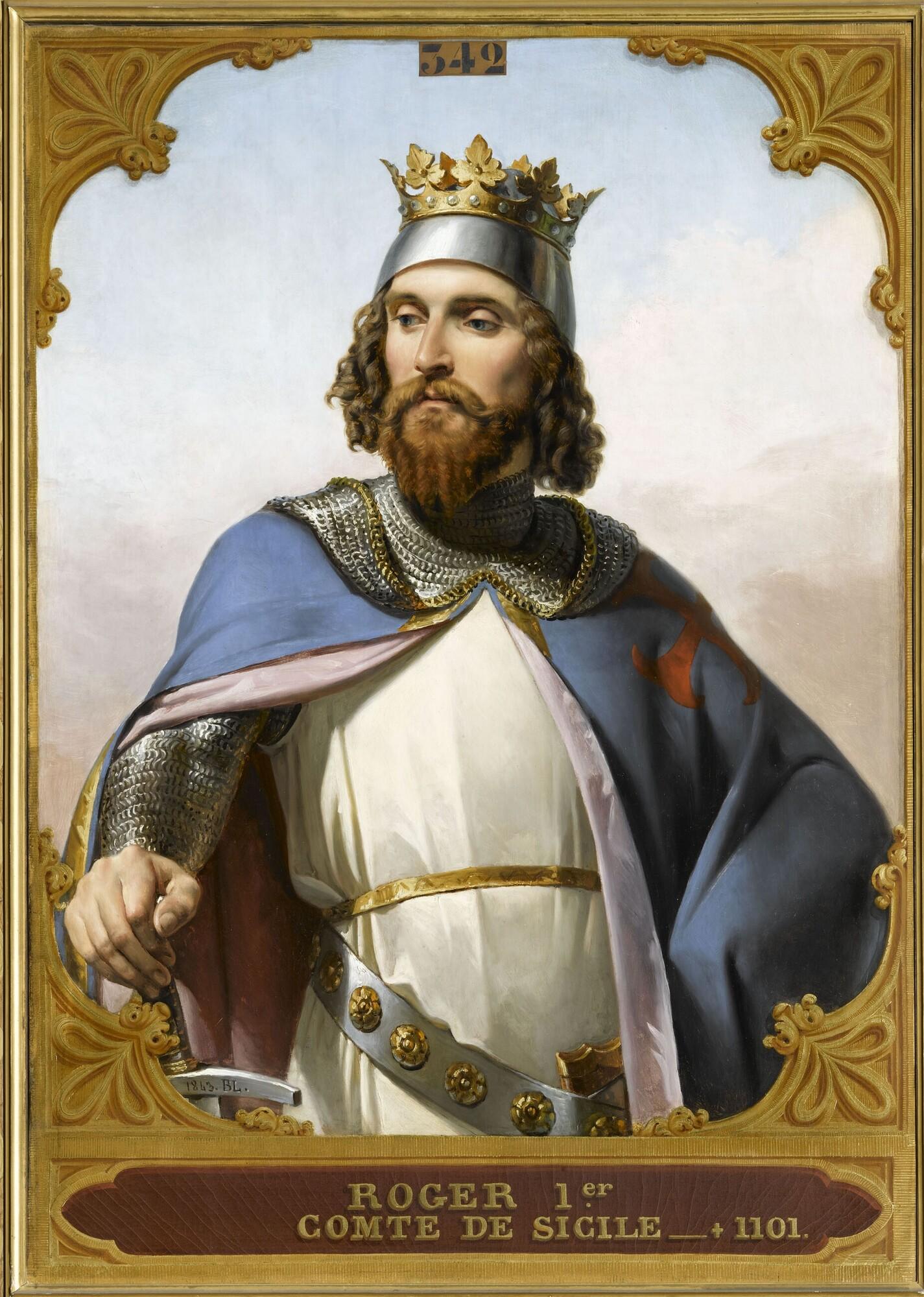 Roger Ier, comte de Sicile (V.1040-1101). Peintre : Merry-Joseph Blondel.