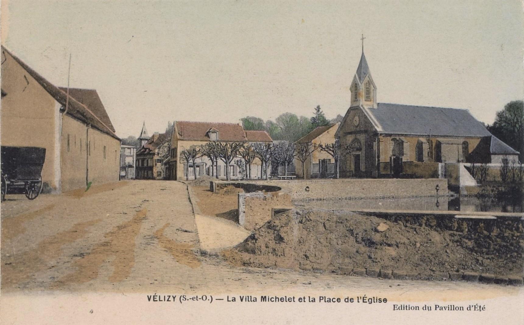 La Villa Michelet et la Place de l'Église.