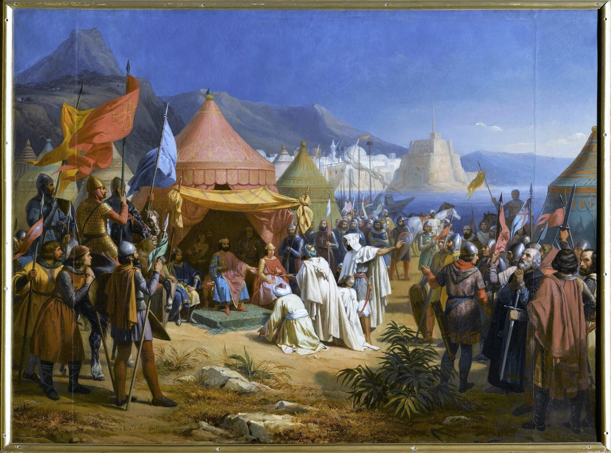 Prise de Tripoli, 1100. Peintre : Alexandre Debacq.