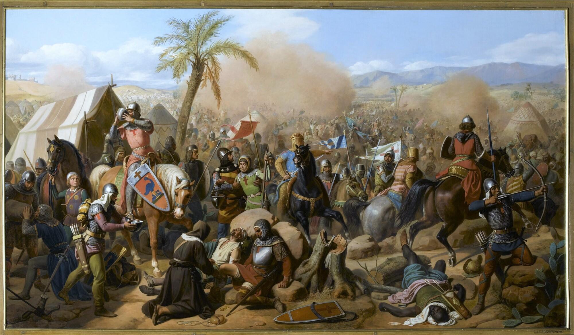 Bataille d'Ascalon, 12 août 1099. Peintre : Victor Schnetz.