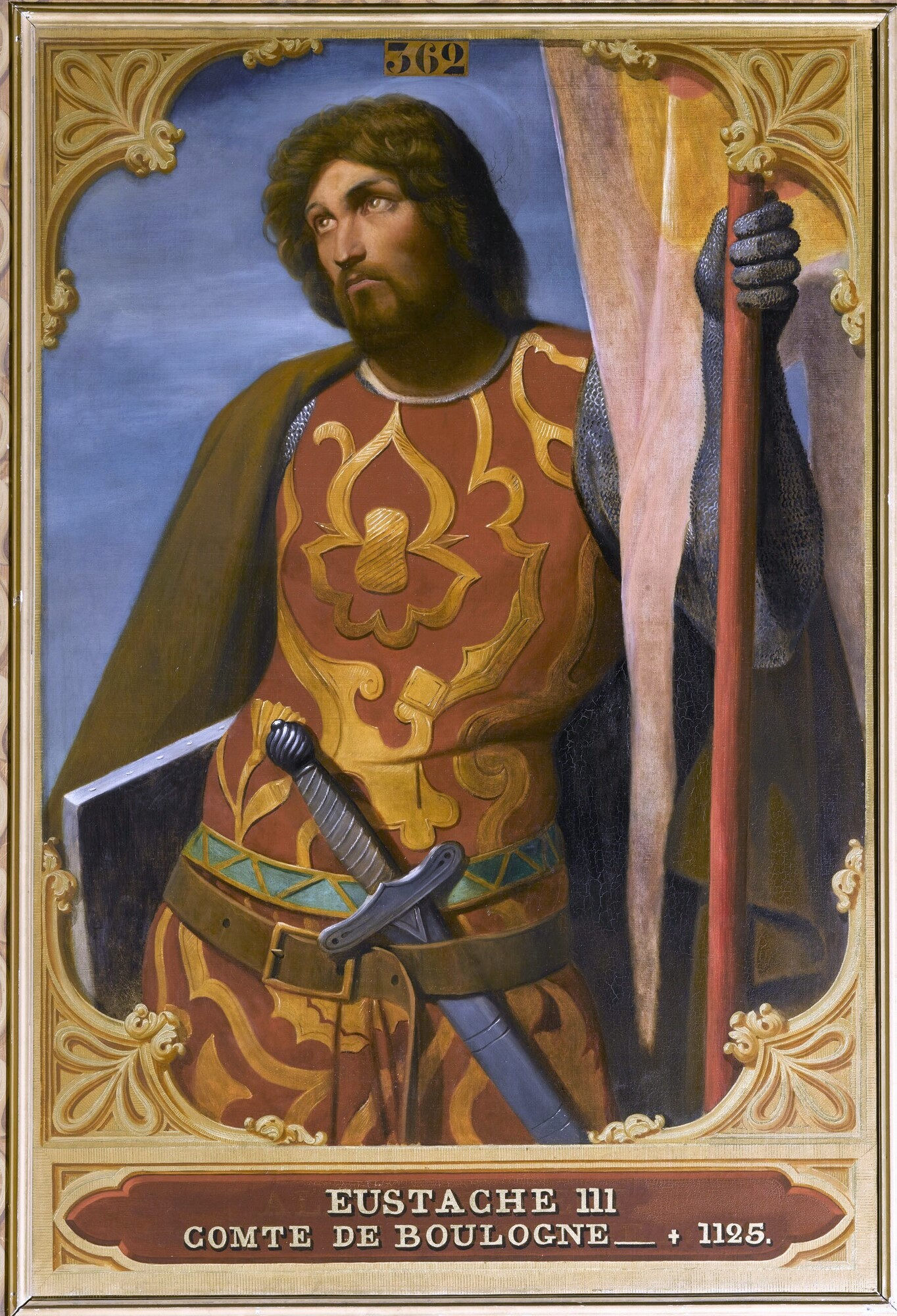 Eustache III, comte de Boulogne (?-1125). Peintre : Édouard-Alexandre Odier.