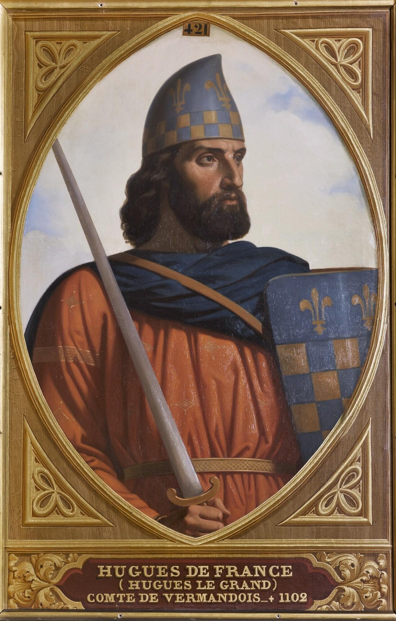 Hugues de France, comte de Vermandois (1057-1101). Peintre : Henri Decaisne.