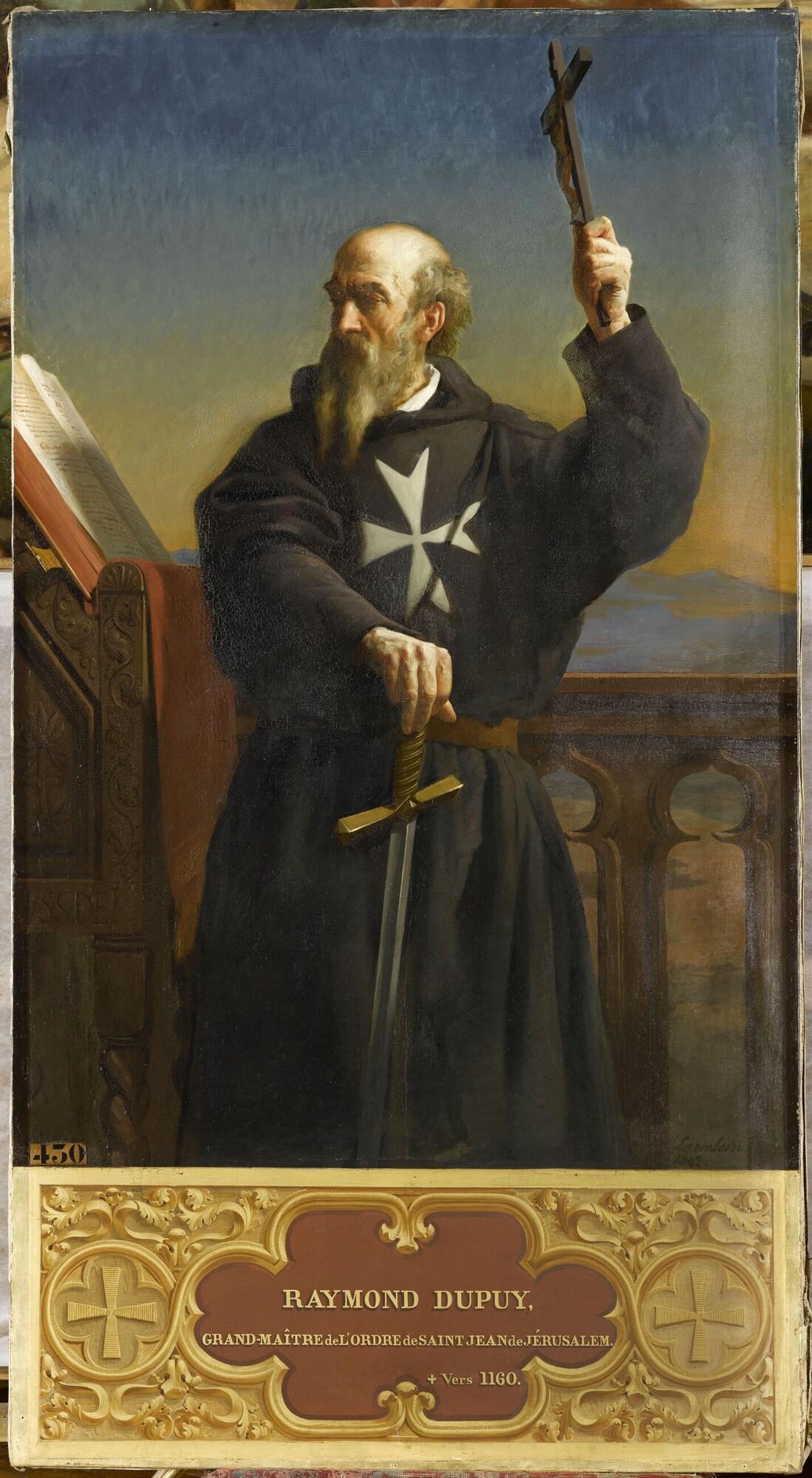 Raymond du Puy, premier grand-maître de l'ordre de Saint-Jean-de-Jérusalem (?-V.1160). Peintre : Alexandre Laemlein.