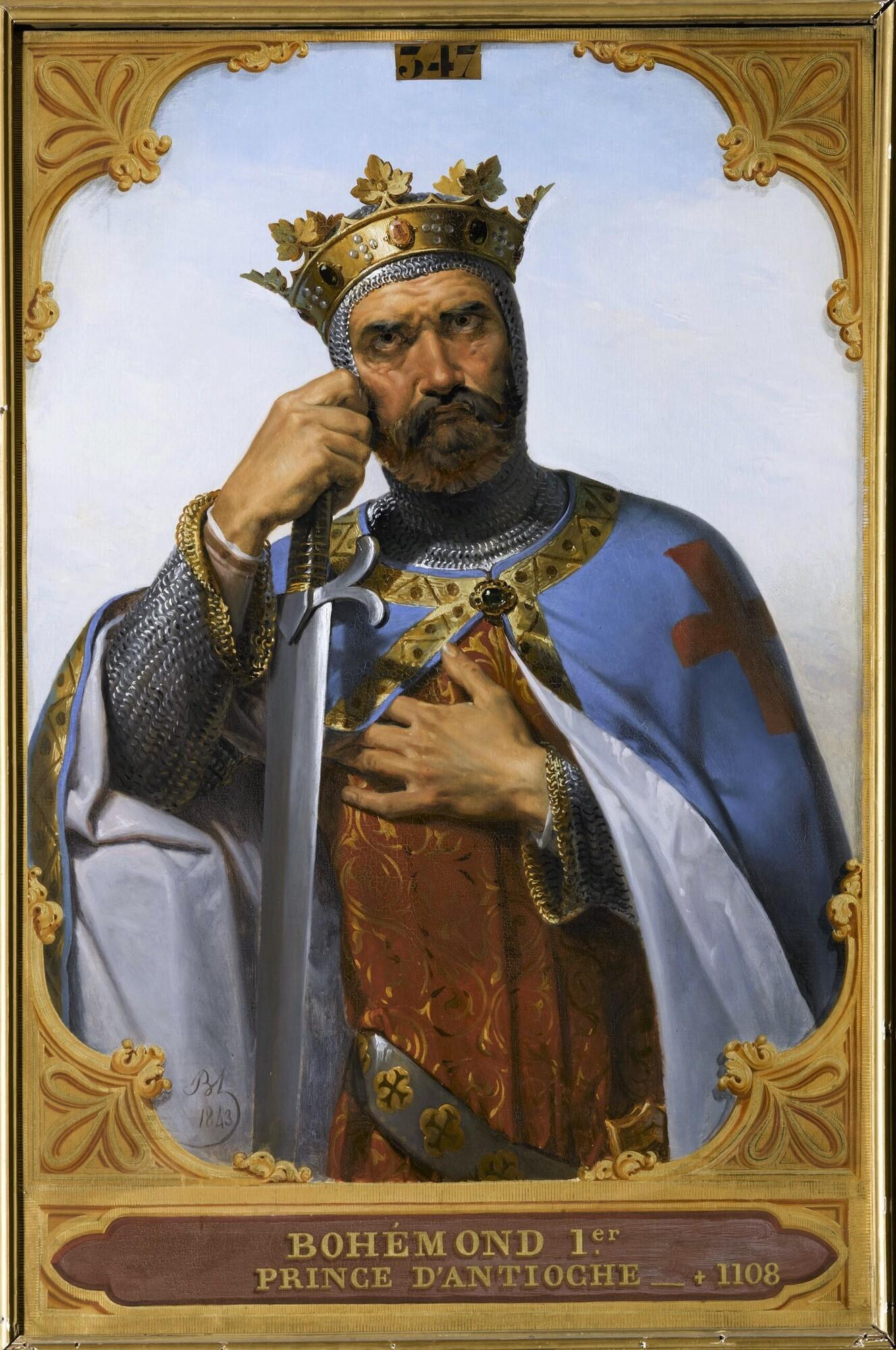 Bohémond Ier, prince d'Antioche. Peintre : Merry-Joseph Blondel.