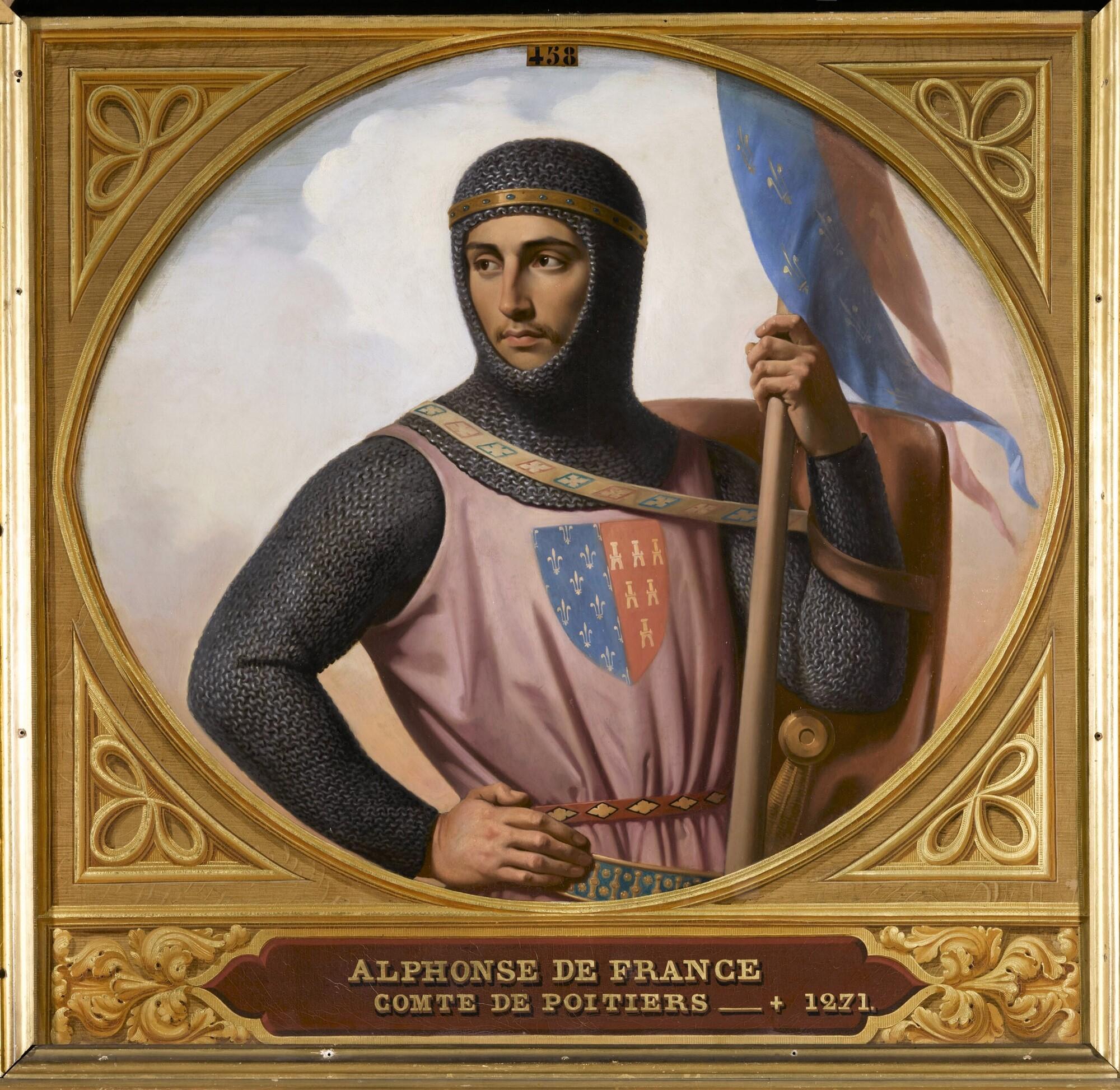 Alphonse de France, comte de Poitiers et de Toulouse. Peintre : Henri Decaisne.
