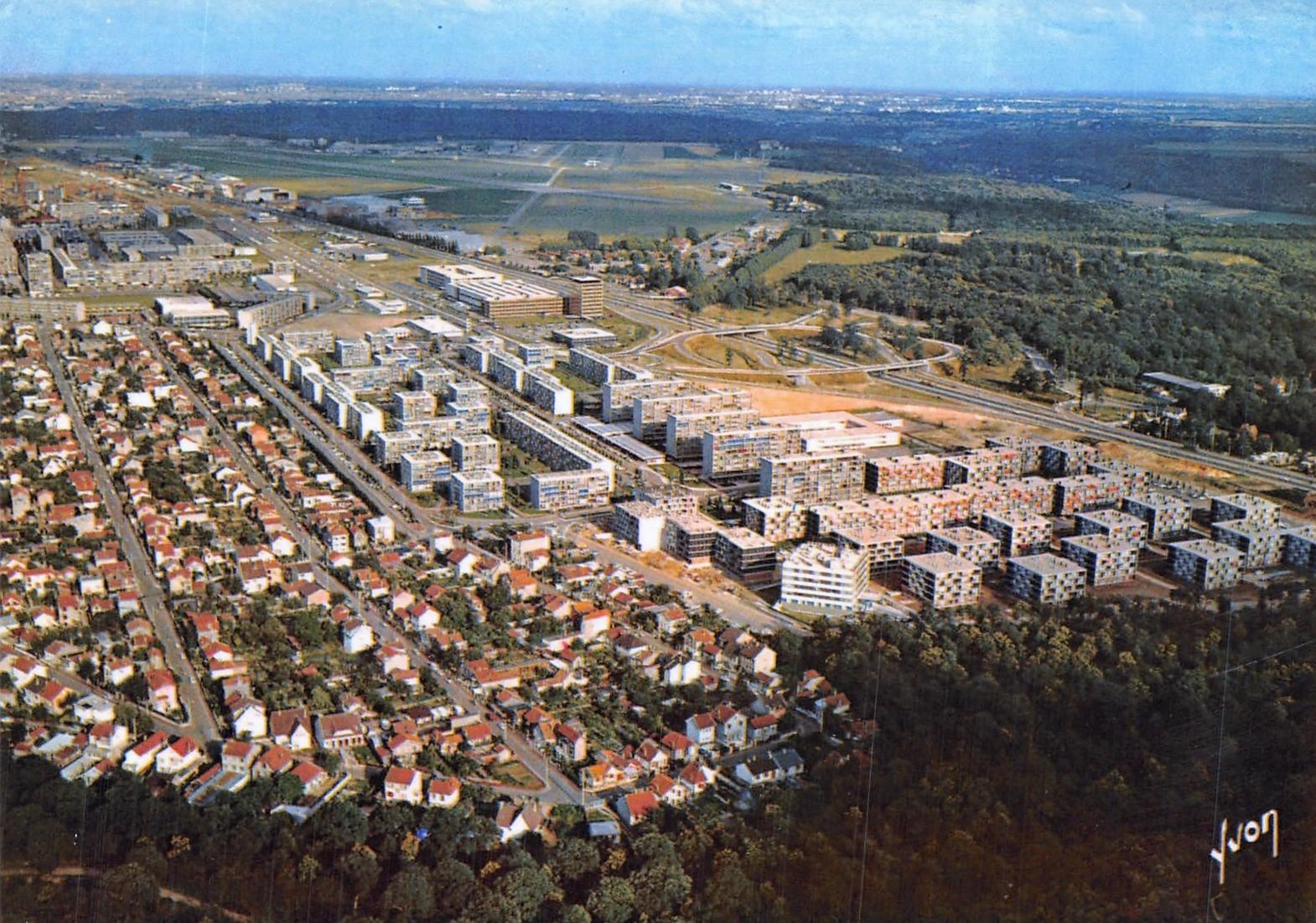 Vélizy-Villacoublay - Vue générale (Photo aérienne Alain Perceval) - Date d'oblitération : 23.05.1986