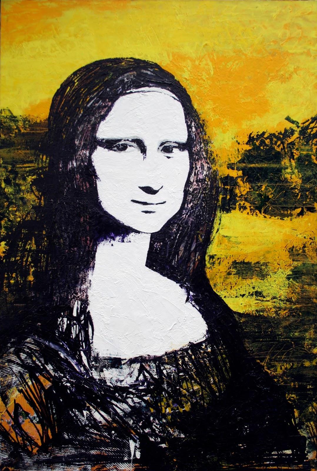 """Wild Side Mona Acrylique sur toile 95 x 130 cm - (Léonard de Vinci, """"La Joconde"""", entre 1503 et 1506) © Éric Citerne"""